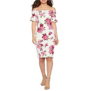 69638f47 🆕NWT Premier Amour Off Shoulder Floral Dress